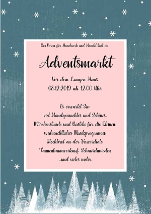 Plakat Adventsmarkt